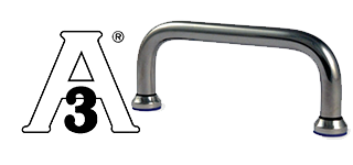 Stainless steel handle bar with gasket seal - USDA & 3A approved