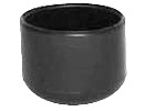 PVC caps & ferrules for round tube - Ferrules for round tubes PVC 45-46 mm black