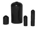 Dip moulded PVC caps for round tube - Flexicap round PVC 16x32 mm black