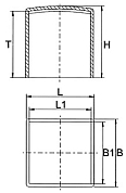 Caps & Ferrules for square and rectangular tube