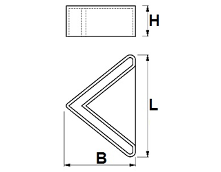 Foot caps for angle iron profiles - Feet for profiles 36 x 36 black