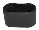 Caps and ferrules for flat oval tube - Ferrules for oval tubes 30 x 15 black