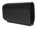 Stand off feet for flat sided oval tube - Ferrules for oval tubes 35 x 20 black