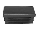 Rectangular end cap inserts - Inserts for rectangular tubes 200x120x6,3-9,0 black