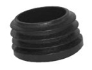 End cap inserts for round tube - inserts for round tubes 14x1,0-2,0 grey ral 7035