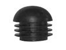 End cap inserts with ball (domed) head for round tube - Inserts with ball head for round tubes 28mm black
