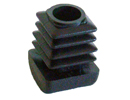 Square end cap inserts with curved/domed base - Insert with domed base 22 x 22 H11 black