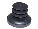 End cap inserts for round tube - Round ribbed inserts 18mm 1-1,5 with enlarged base 26mm