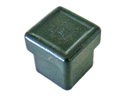 Square & rectangular end cap inserts without ribbing - Inserts for rectangular tubes without slats 40 x 20 x 2 black