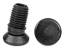 Tiltsert end caps with PA pad for round tube - Tilt glides with PA glide base 23mm 16X1,5-2 black