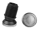 Tiltsert end caps with stainless steel pad for round tube - Tilt glides with Ø25mm stainless steel slide base 25X1,5-2 black