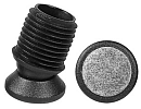 Tiltsert end caps with felt pad for round tube - Tilt glides with Ø25mm felt slide base 28X1,5-2 black