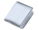 Square end cap inserts - chromed