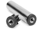 Heavy-duty tube insert with threaded metal bush - round