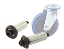 Castor Expander fittings - round - Ø18-20mm M10