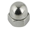 Hexagon domed cap nuts DIN1587 - steel 6 zinc plated - M4