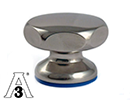 Star knob stainless steel AISI304 Ø27mm M5 - hygiene 3A